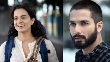 Shahid Kapoor Has Been Awarded With The Best Actor Trophy At IIFA Awards 2015 While Kangana Ranaut Who Is Not
